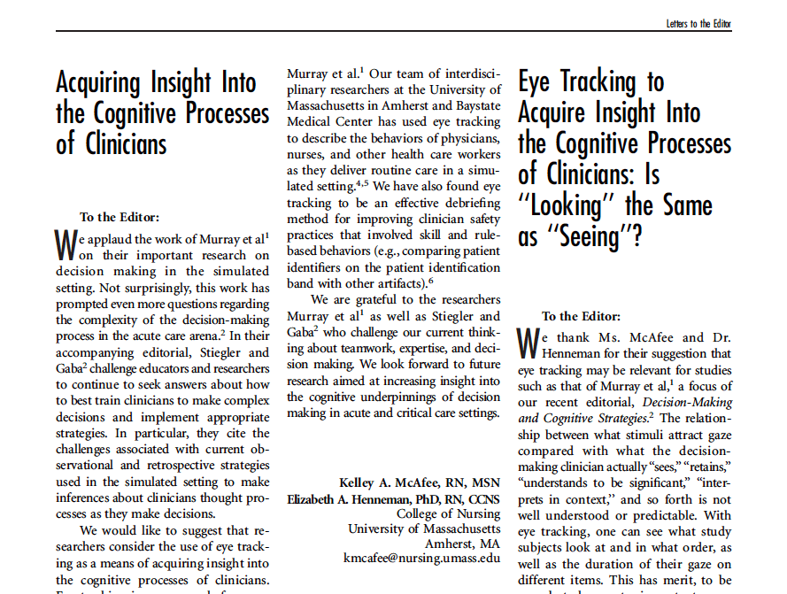 insights into cognition using eye tracking in research